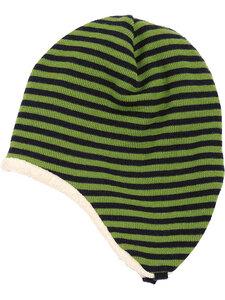 Baby und Kinder Ringel-Ohrenmütze Bio-Merinwolle/Bio-Baumwolle - Reiff