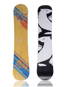Schneebrett  Follow The Leader Bamboo Twintip Full Rocker Snowboard Limited Edition Vollholzkern Sandwich-Laminat-Bauweise - SCHNEEBRETT
