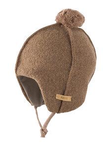 Baby Walkmütze mit Bommel Bio-Wolle/Bio-Baumwolle - Pure-Pure