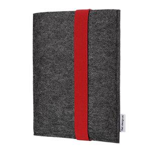 """Hülle LAGOA für Tablets & Laptops bis 15,9 """" - 100% Wollfilz - dunkelgrau => genaues Modell bei der Bestellung angeben - flat.design"""