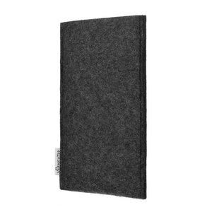 Handyhülle PORTO für Apple iPhone - 100% Wollfilz - dunkelgrau - Filz Schutz Tasche - flat.design