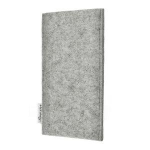Schutzhülle PORTO für Handys - 100% Wollfilz - hellgrau => genaues Modell bei der Bestellung angeben - flat.design