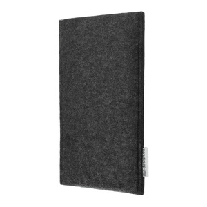 Schutzhülle PORTO für Handys - 100% Wollfilz - dunkelgrau => genaues Modell bei der Bestellung angeben - flat.design