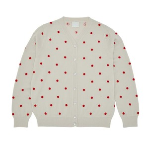 Cardigan Ecru Red Dots - FUB