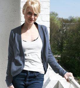Jäckchen blaugrau - Lena Schokolade