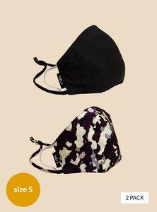 Behelfs-Mund-Nasen-Maske aus Bio-Baumwolle, unisex und schadstofffrei gemäß GOTS-Zertifizierung 2er Pack - MELAWEAR