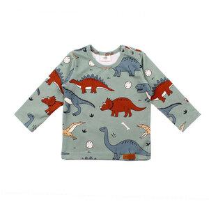 Walkiddy Shirt longsleeve Pullover Dinosaurier grün - Walkiddy
