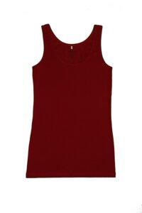 Damen Tank Top 5 Farben Bio-Baumwolle Unterhemd   - Albero