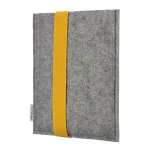 """Hülle LAGOA für Tablets & Laptops bis 15,9 """" - 100% Wollfilz - hellgrau => genaues Modell bei der Bestellung angeben - flat.design"""