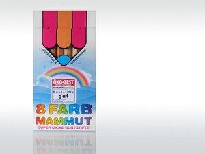 Dicke Buntstifte, 8 Farben - Ökonorm