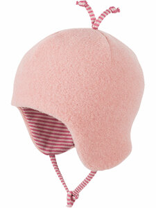 Baby und Kinder Fleece-Mütze Bio-Wolle/Bio-Baumwolle - Pure-Pure