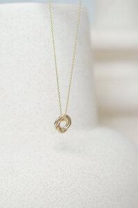 Gold Halskette Mini Russian Ring - Wild Fawn Jewellery