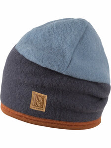 Kinder Fleece-Beanie reine Bio-Wolle - Pure-Pure