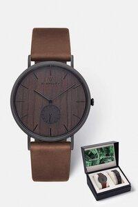 Geschenk - Box mit Herrenuhr 'FRITZ' und passendem Wechselarmband - Kerbholz