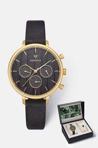 Geschenk - Box mit Damenuhr und Armband 'HELENE' & 'Circle Bracelet' - Kerbholz
