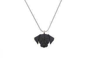 Halskette Schwarzer Labrador   Kette mit Anhänger aus Holz - BeWooden