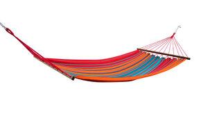 Caribe Grande XL Stabhängematte, Hängematte mit Holzstab aus langfasriger Baumwolle - MacaMex