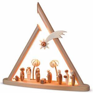 Moderne Lichterspitze, natur Heilige Familie, natur - Müller Seiffen