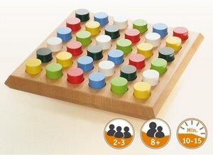 Edles Holzspiel Paletto, mit 36 Holzzylindern für 2-3 Spieler ab 8 Jahren super - Gerhards Spiel & Design