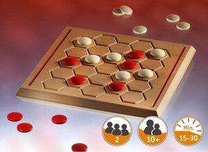 Avverso - Brettspiel aus Holz für 2 Spieler ab 10 Jahren wunderschön gearbeitet - Gerhards Spiel & Design