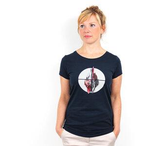 Chicken Crosslines - Frauenshirt mit Print aus Biobaumwolle - Coromandel