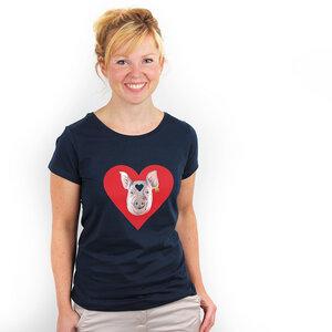 Piggy Love - Bioshirt Frauen mit Print - Coromandel
