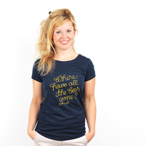 Where Have All The Bees Gone - Shirt Frauen Bio mit Print - Coromandel