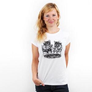 Chinchilla Couple - Printshirt Frauen aus Biobaumwolle - Coromandel