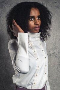 Damen Hemdbluse ENARISA aus Bio-Baumwolle - VRETENA
