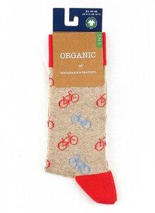 "GOTS zertifiziert Bio Baumwolle Socken mit ""Fahrrad Print"" - VNS Organic Socks"