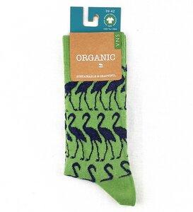 "GOTS zertifizierte Biobaumwolle Socken mit ""Flamingo Print"" - VNS Organic Socks"