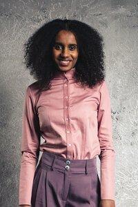 Damen Hemdbluse ERTHEA aus Bio-Baumwolle - VRETENA