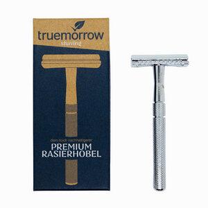 Premium Rasierhobel Metall, plastikfrei, Rasierer für Mann und Frau - truemorrow