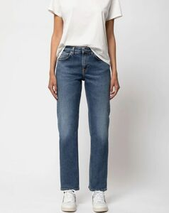 Straight Sally Dark Stone - Nudie Jeans