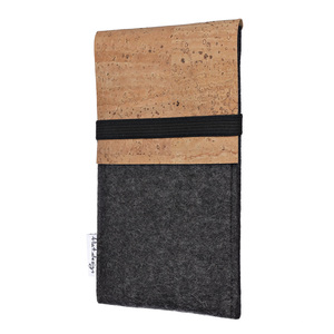 Schutzhülle SAGRES für Handys - 100% Wollfilz - dunkelgrau => genaues Modell bei der Bestellung angeben - flat.design