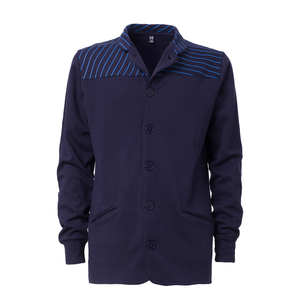 ThokkThokk Striped Button Jacket Man Midnight - THOKKTHOKK