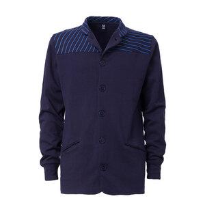 ThokkThokk Striped Button Jacket Man Midnight - THOKKTHOKK