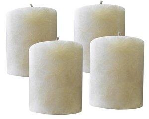 Stearin-Stumpenkerze 4 er - Set (elfenbein) - Kerzenfarm