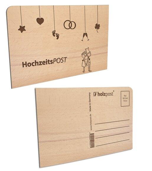 Holzpost Hochzeitskarte Aus Holz Avocadostore