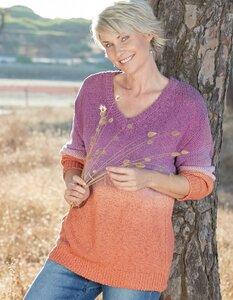 Pullover Austra in Batik-Optik aus 100% Bio-Baumwolle - Deerberg