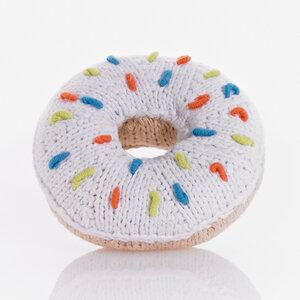 Babyrassel Donut  aus Baumwolle. - Pebble