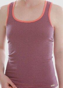 Damen Unterhemd Achselträger geringelt - comazo|earth
