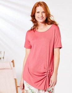 Shirt Turid mit Raffung - aus Lenzing EcoVero Viskose - Deerberg