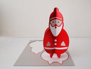 Popout-Karte Weihnachtsmann - cut&make