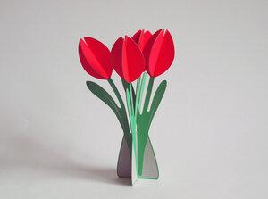Popout-Karte Tulpen - cut&make