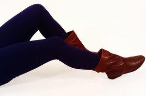 Bio Leggings uni dunkelblau - Frija Omina