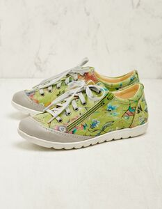 Leder-Sneaker Rigoberta in unifarben oder bedruckt - Deerberg
