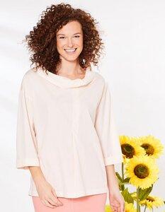 Bluse aus Bio-Baumwolle mit Stehkragen - Deerberg