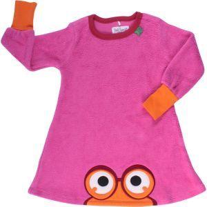 Mädchenkleid aus Baumwollfleece pink - Fred's World by Green Cotton