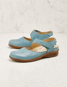 Leder-Sandalen Danut mit Klettverschluss und Wechselfußbett - Martin Natur
